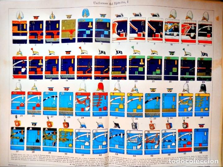 UNIFORMES MILITARES ESPAÑOLES FINALES DEL XIX Y COMIENZOS DEL XX CARTEL (Coleccionismo - Carteles Gran Formato - Carteles Varios)