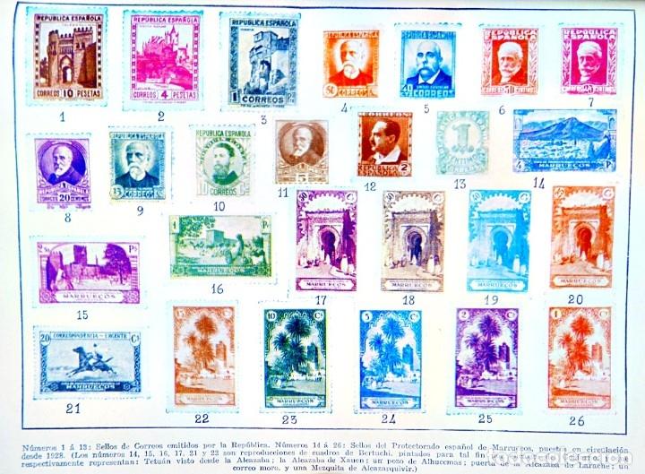 CARTEL DE SELLOS ESPAÑOLES REPRODUCIDOS HASTA 1935 (Coleccionismo - Carteles Gran Formato - Carteles Varios)