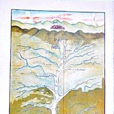 Carteles: MAPA DEL DESCUBRIMIENTO DEL RIO DE LAS AMAZONAS. POR EL PRESIDENTE DEL CONSEJO DE INDIAS EN 1639. Lote 181512423