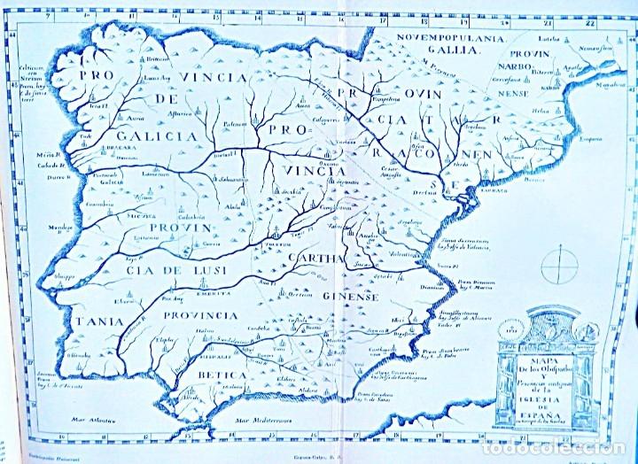 MAPA DE LOS OBISPADOS DE LA IGLESIA EN ESPAÑA. SIGLO XIX-XX (Coleccionismo - Carteles Gran Formato - Carteles Varios)