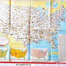 Carteles: MAPA DE LOS ESTADOS UNIDOS DE AMÉRICA,EN ESPAÑOL PUBLIC POR LA SECRETARÍA DE ESTADO WASHINGTON, D.C.. Lote 181891586