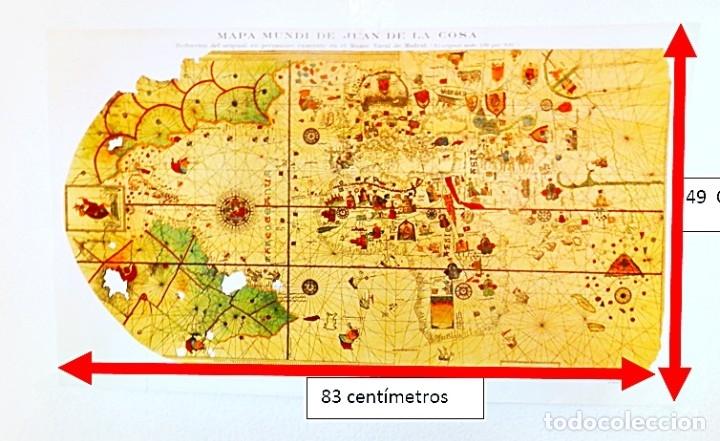 MAPA MUNDI DE JUAN DE LA COSA. REDUCCIÓN DEL ORIGINAL. 1935 (Coleccionismo - Carteles Gran Formato - Carteles Varios)