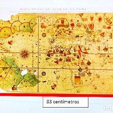 Carteles: MAPA MUNDI DE JUAN DE LA COSA. REDUCCIÓN DEL ORIGINAL. 1935. Lote 181896026