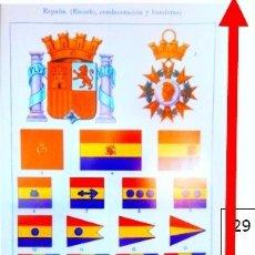 Carteles: BANDERAS DE ESPAÑA DE 1935. Lote 181899272