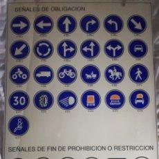 Carteles: SEÑALES DE OBLIGACIÓN.. Lote 182113228