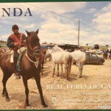 Carteles: RONDA 2002 (RONDA 2002 FERIA DE PEDRO ROMERO SEPTIEMBRE REAL FERIA DE GANADO). Lote 182136706