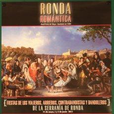Carteles: RONDA 2013 (RONDA ROMÁNTICA 2013 FERIA DE MAYO). Lote 182136707