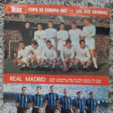 Carteles: POSTER CARTEL REAL MADRID INTER 1967 COPA DE EUROPA. Lote 182700587