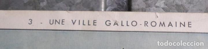 """Carteles: CARTELES DE HISTORIA DE ESCUELA FRANCESES –VII- años 50 – 60 Papel duro """"como la cartulina"""" - Foto 2 - 182905583"""
