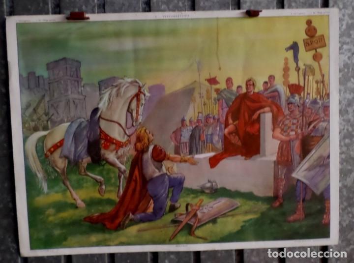 """Carteles: CARTELES DE HISTORIA DE ESCUELA FRANCESES –VII- años 50 – 60 Papel duro """"como la cartulina"""" - Foto 3 - 182905648"""