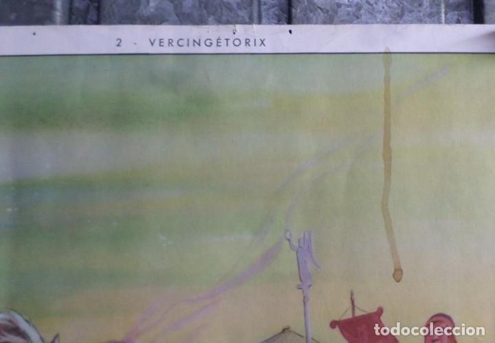 """Carteles: CARTELES DE HISTORIA DE ESCUELA FRANCESES –VII- años 50 – 60 Papel duro """"como la cartulina"""" - Foto 5 - 182905648"""