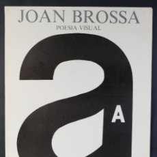 Carteles: CARTEL JOAN BROSSA POESIA VISUAL CASTELL BENEDORMIENS CASTELL D'ARO 1986. Lote 183331630
