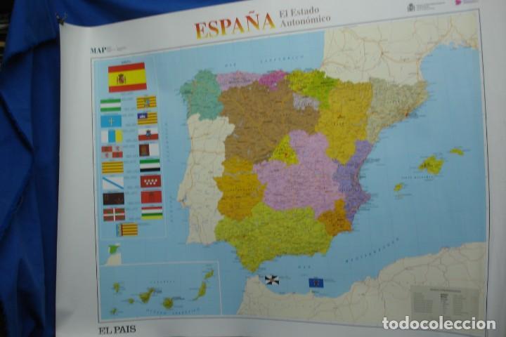 MAPA ESPAÑA, EL ESTADO AUTONÓMICO EDITADO EN 1995 (Coleccionismo - Carteles Gran Formato - Carteles Varios)