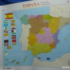 Carteles: MAPA ESPAÑA, EL ESTADO AUTONÓMICO EDITADO EN 1995 . Lote 183369297