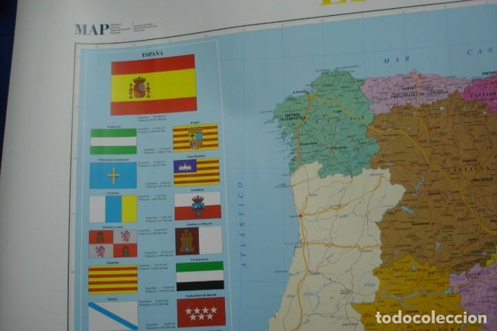 Carteles: MAPA ESPAÑA, EL ESTADO AUTONÓMICO EDITADO EN 1995 - Foto 2 - 183369297