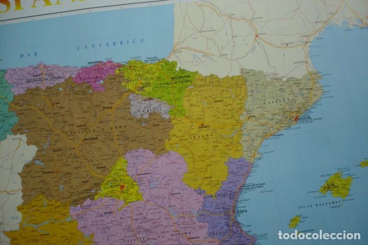 Carteles: MAPA ESPAÑA, EL ESTADO AUTONÓMICO EDITADO EN 1995 - Foto 4 - 183369297