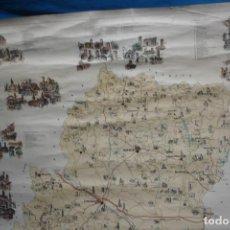 Carteles: MAPA DE ARAGÓN TURÍSTICO Y MONUMENTAL - DISEÑO Y DIBUJO RAFAEL MARGALÉ EDITADO EN 1981 . Lote 183375738
