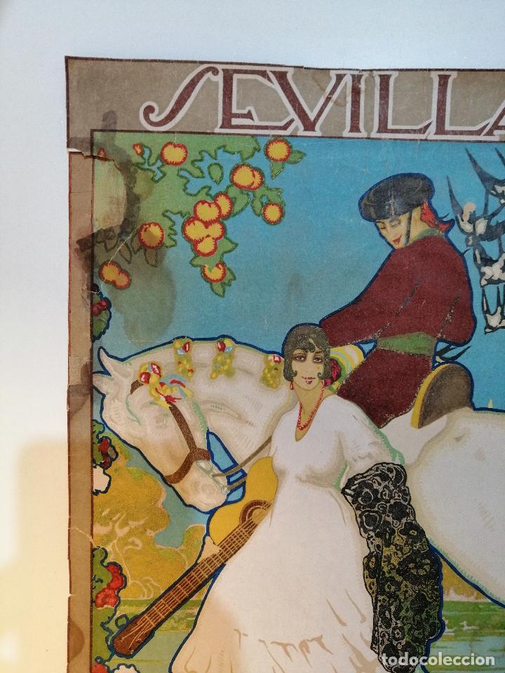 Carteles: CARTEL ORIGINAL FIESTAS DE PRIMAVERA SEVILLA 1921. JOSÉ MORELL MACÍAS - Foto 2 - 183431282