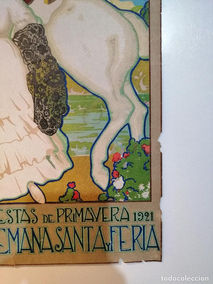 Carteles: CARTEL ORIGINAL FIESTAS DE PRIMAVERA SEVILLA 1921. JOSÉ MORELL MACÍAS - Foto 4 - 183431282