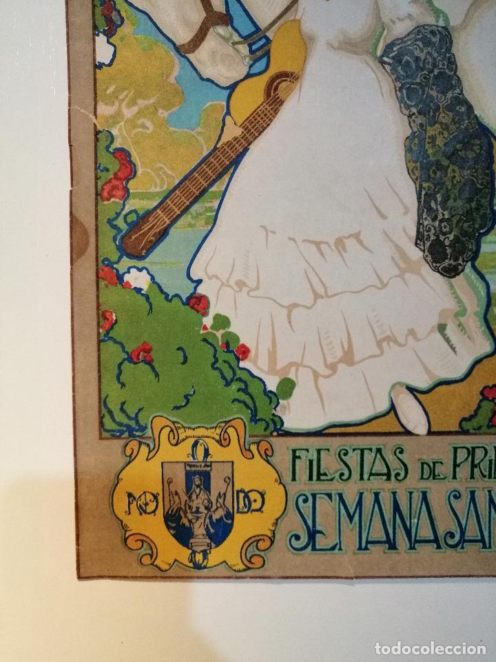 Carteles: CARTEL ORIGINAL FIESTAS DE PRIMAVERA SEVILLA 1921. JOSÉ MORELL MACÍAS - Foto 5 - 183431282