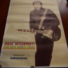 Carteles: CARTEL ORIGINAL GIRA PAUL MCCARTNEY THE NEW WORLD TOUR AÑO 1993 - TAMAÑO 62 X 93 CM - BUEN ESTADO. Lote 184291923
