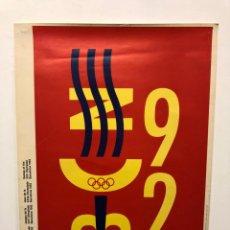 Affiches: CARTEL JUEGOS OLÍMPICOS BARCELONA 92. DISEÑO QUIN NOLLA. Lote 184348598