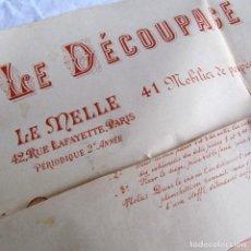 Carteles: 5 PLANOS PARA CONSTRUIR MUEBLES DE MADERA LE MELLE 62X50 CM PRINCIPIOS SIGLO XX. Lote 186129780