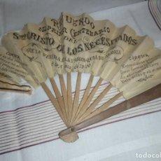 Carteles: ABANICO RECUERDO PRIMER CENTENARIO CRISTO DE LOS NECESITADOS ALDAYA 8 AGOSTO 1900. Lote 186286895
