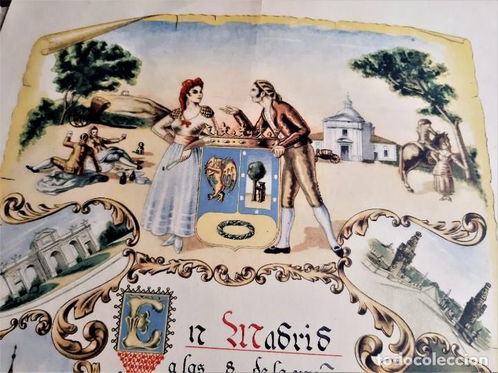 Carteles: 1957 CARTEL RECORDATORIO FAMILIAR DE MATRIMONIO AVELY ORLAS MADRID 28.5.X 41.5.CM - Foto 2 - 188396487