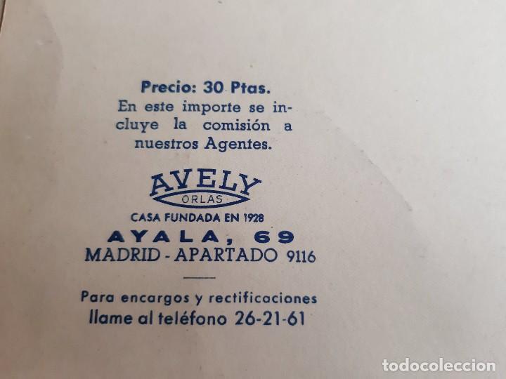 Carteles: 1957 CARTEL RECORDATORIO FAMILIAR DE MATRIMONIO AVELY ORLAS MADRID 28.5.X 41.5.CM - Foto 4 - 188396487