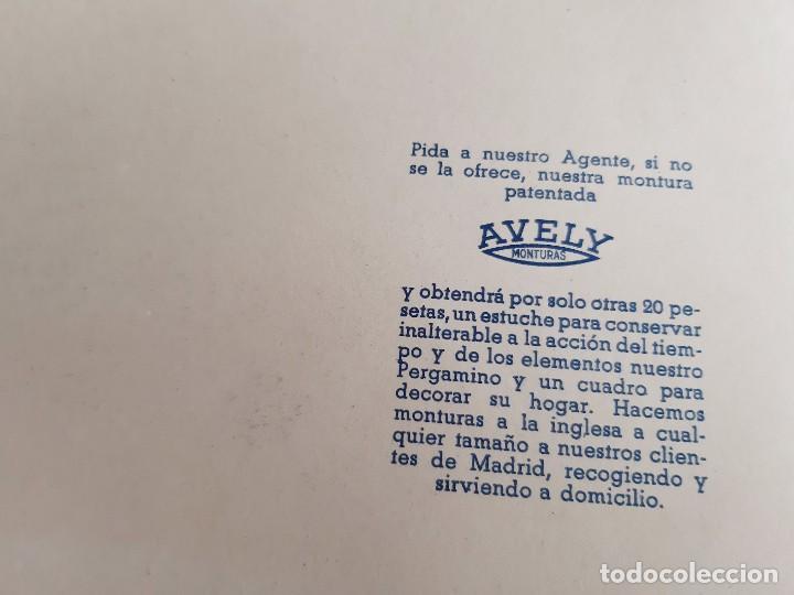 Carteles: 1957 CARTEL RECORDATORIO FAMILIAR DE MATRIMONIO AVELY ORLAS MADRID 28.5.X 41.5.CM - Foto 5 - 188396487