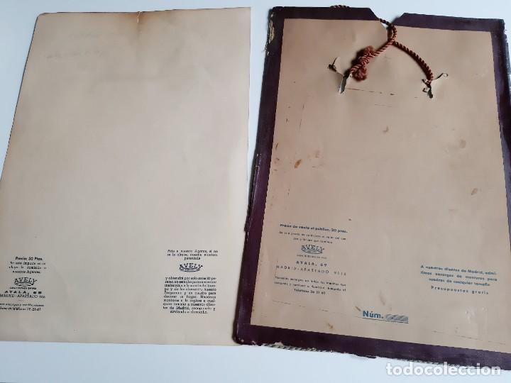 Carteles: 1957 CARTEL RECORDATORIO FAMILIAR DE MATRIMONIO AVELY ORLAS MADRID 28.5.X 41.5.CM - Foto 6 - 188396487