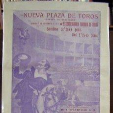 Carteles: (CARTEL DE TOROS). NUEVA PLAZA DE TOROS (ARENAS DE BARCELONA). CARRIQUIRI... CORCHAITO... OSTIO.... Lote 187439711