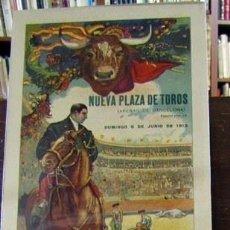 Carteles: (CARTEL DE TOROS). NUEVA PLAZA DE TOROS (ARENAS DE BARCELONA). MACHAQUITO... VICENTE PASTOR. GA.... Lote 187439741