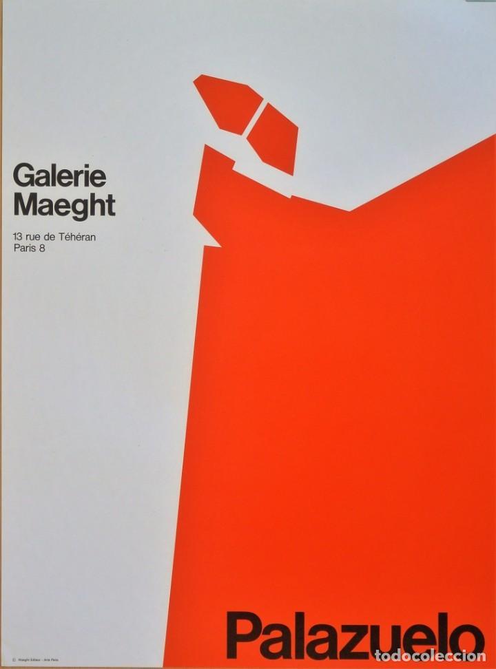 CARTEL ORIGINAL PABLO PALAZUELO (Coleccionismo - Carteles Gran Formato - Carteles Varios)