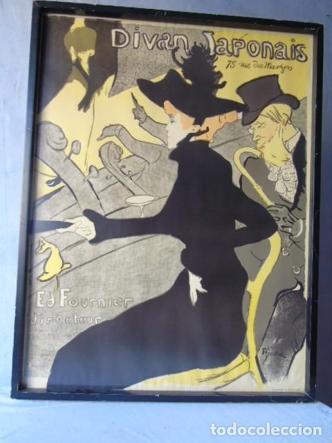 CUADRO LAMINA LITOGRAFIA TEATRO DIVAN JAPONAIS HENRI DE TOULOUSE LAUTREC EDITION ATHENA LONDON (Coleccionismo - Carteles Gran Formato - Carteles Varios)