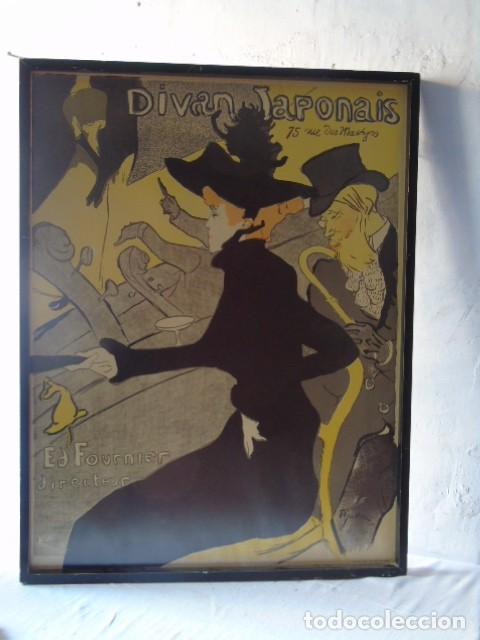 Carteles: Cuadro lamina LITOGRAFIA TEATRO DIVAN JAPONAIS HENRI DE TOULOUSE LAUTREC EDITION ATHENA LONDON - Foto 2 - 189730615