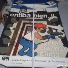 Carteles: CARTEL POSTER APA 1972 Nº 20 ( ENTIBA BIEN ANTES DE QUE TE CAIGA ) DE 87 X 59 CM UREZBEA - RENTERIA. Lote 190040270