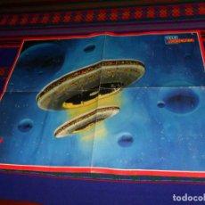 Carteles: TELE INDISCRETA CARTEL PÓSTER V LOS VISITANTES Y TABLA DE CALORÍAS. 54,5X42 CMS. RARO.. Lote 190137463