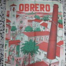 Carteles: CARTEL OBRERO ¡ A LA MISION !. A. BATLLORI JOFRE. EDITORIAL BALMES BARCELONA. 100 X 70 CM. . Lote 190445567