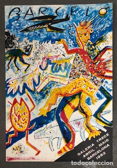 CARTEL MIQUEL BARCELÓ - GALERIA TRECE, BARCELONA AÑO 1982 (Coleccionismo - Carteles Gran Formato - Carteles Varios)