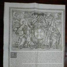 Carteles: CARTEL DE 1766 RELATIVO A EDICTO RELIGIOSO CANONICO, TAL COMO SE VE EN LAS FOTOGRAFIAS PUESTAS, MIDE. Lote 191759606