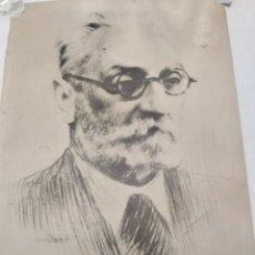 Carteles: MIGUEL DE UNAMUNO, POSTER AÑO 1975. 49 X 69 CMS.. Lote 192251301