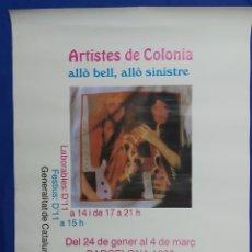 Carteles: CARTEL ARTISTES DE COLONIA BARCELONA 1990 84X59. Lote 192284450