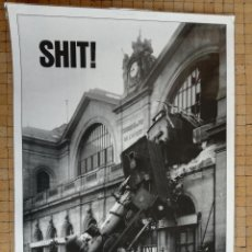 Carteles: POSTER FOTOGRAFICO SHIT ACCIDENTE DE FERROCARRIL EN LA GARE DE MONTPARNASSE. AÑO 1895. Lote 192820087
