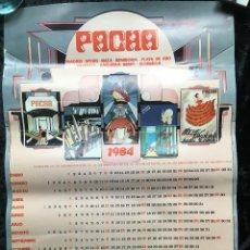 Carteles: PÓSTER CARTEL PACHA - CALENDARIO 1984 67,5X45,5 - DISEÑADOR JUAN GOMARA 83. Lote 193623687