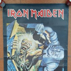 Carteles: POSTER IRON MAIDEN NO PRAYER FOR THE DYING, 1990, GRAN TAMAÑO 84,00 X 58,50 CARTEL. Lote 194069195
