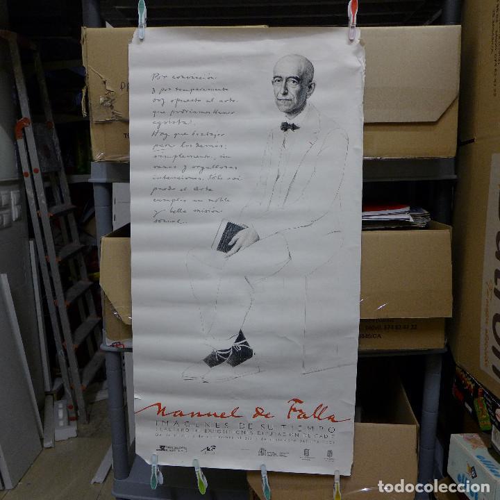 CARTEL MANUEL DE FALLA IMAGENES DE SU TIEMPO 2001 (Coleccionismo - Carteles Gran Formato - Carteles Varios)