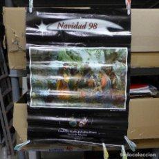 Carteles: CARTEL DE LA NAVIDAD DE 1998 DE LA FUNDACION ALCALDE ZOILO RUIZ-MATEOS SECCION DE BELENISTAS. Lote 194245455
