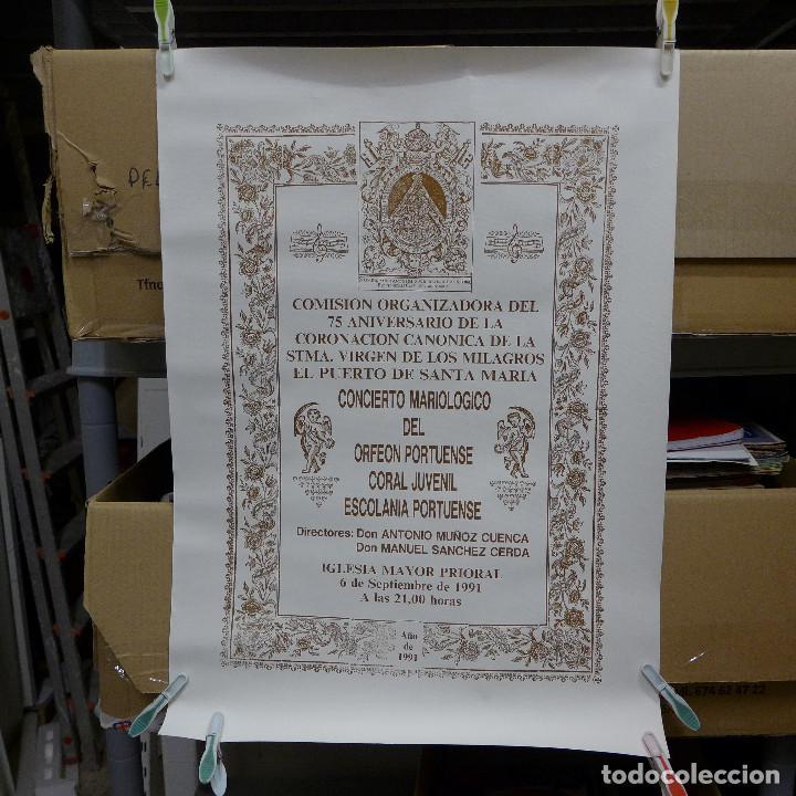 CARTEL DEL CONCIERTO MARIOLOGICO DEL ORFEON PORTUENSE (Coleccionismo - Carteles Gran Formato - Carteles Varios)